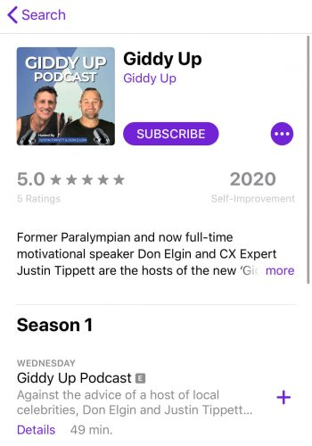 Step 6 of reviewing a podcast on iTunes
